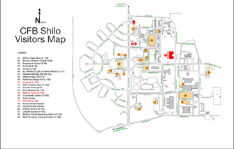 CFB Shilo Visitor's Map