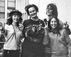 Miss Sheehan along with Faye Johnson, Doug McGunigal & Lisa Henderson. -  ca. 1968